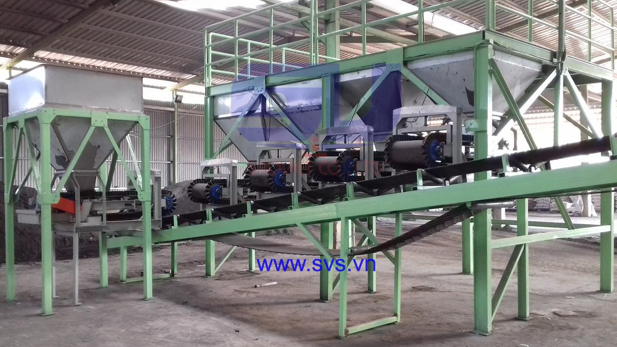 Cân băng tải phối trộn MSWS05 tại nhà máy Điền Trang.
